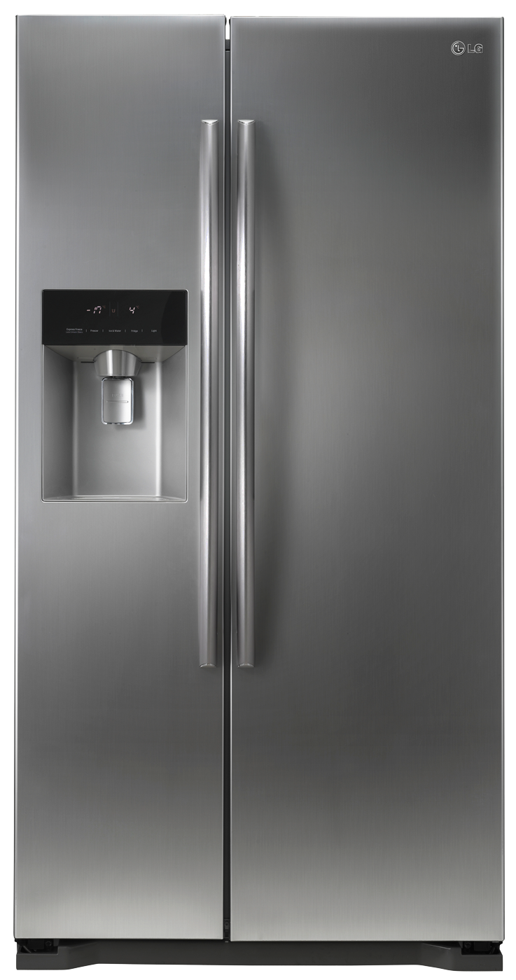 lg side by side fridge with water dispenser gc l207glqv newappliances. Black Bedroom Furniture Sets. Home Design Ideas