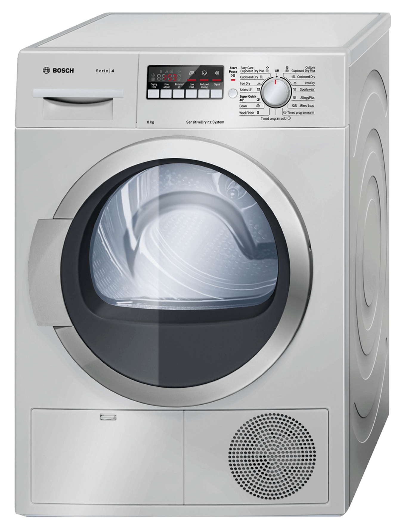 Bosch Condenser Tumble Dryer Silver Model Wtb8620sza