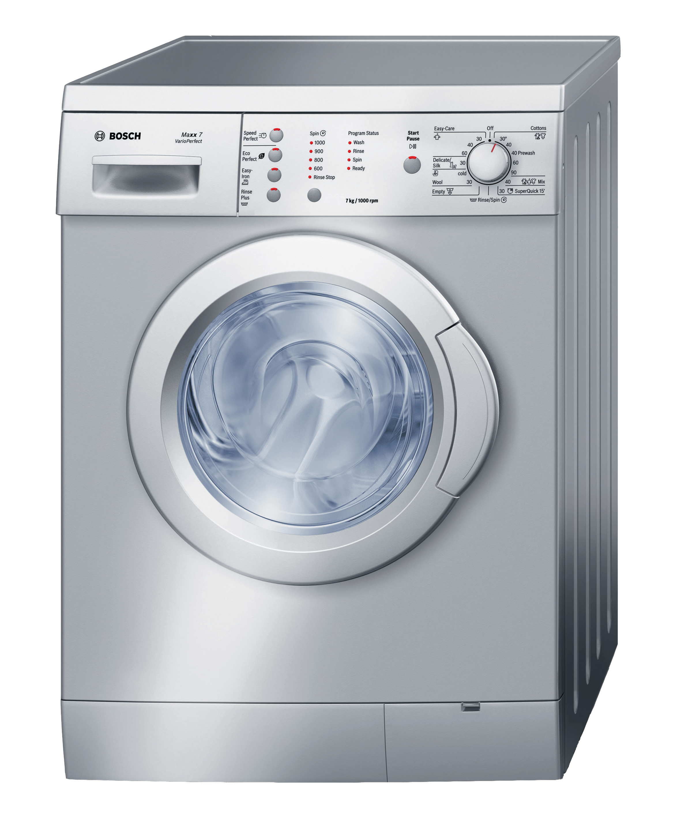 bosch front loader washing machine silver model wae201s3za newappliances. Black Bedroom Furniture Sets. Home Design Ideas