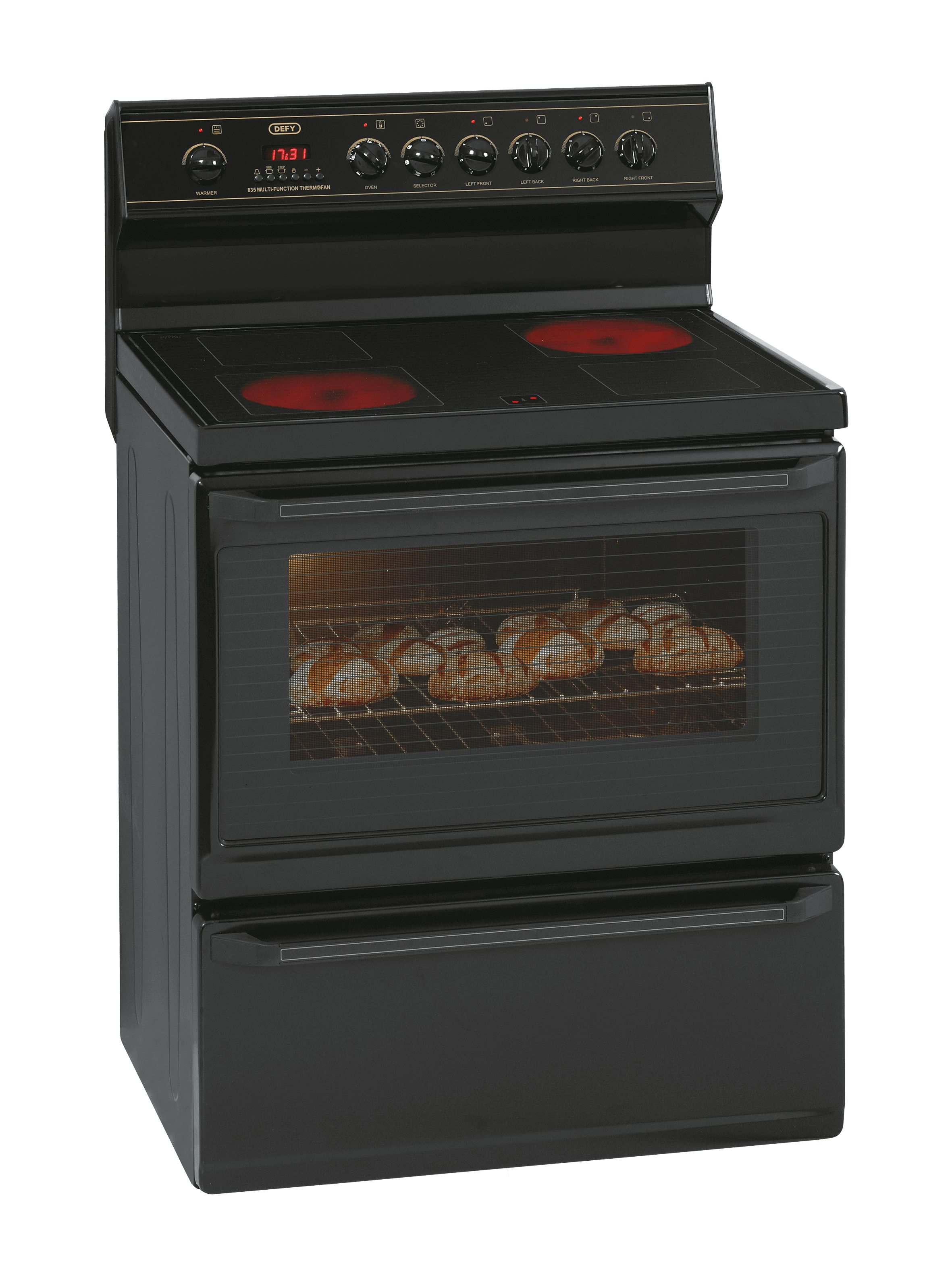 Defy Multifunction Stove  Black  Model  Dss430
