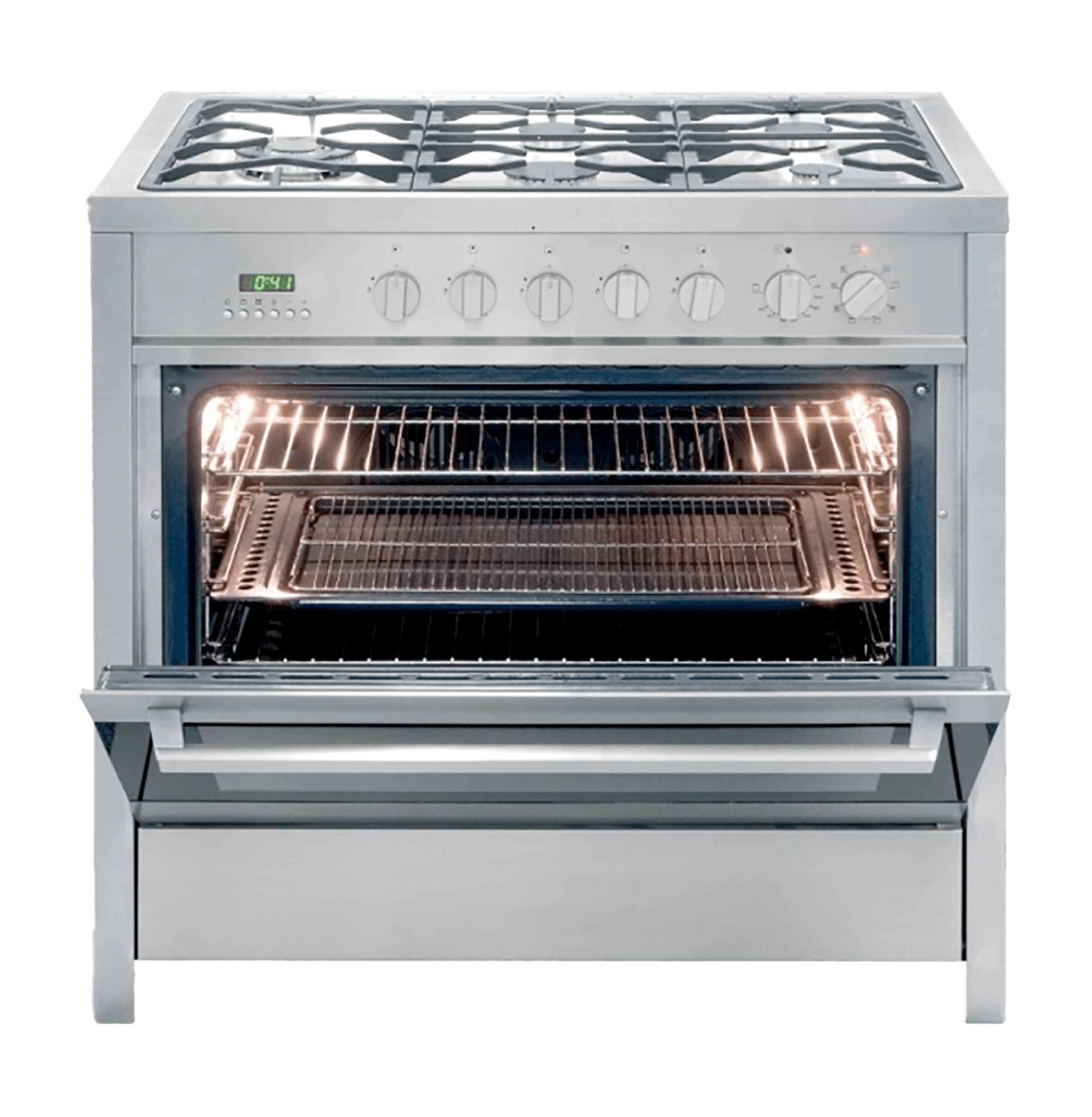 KELVINATOR <BR /> GAS ELECTRIC <BR /> STOVE (S/STEEL) <BR />MODEL ...