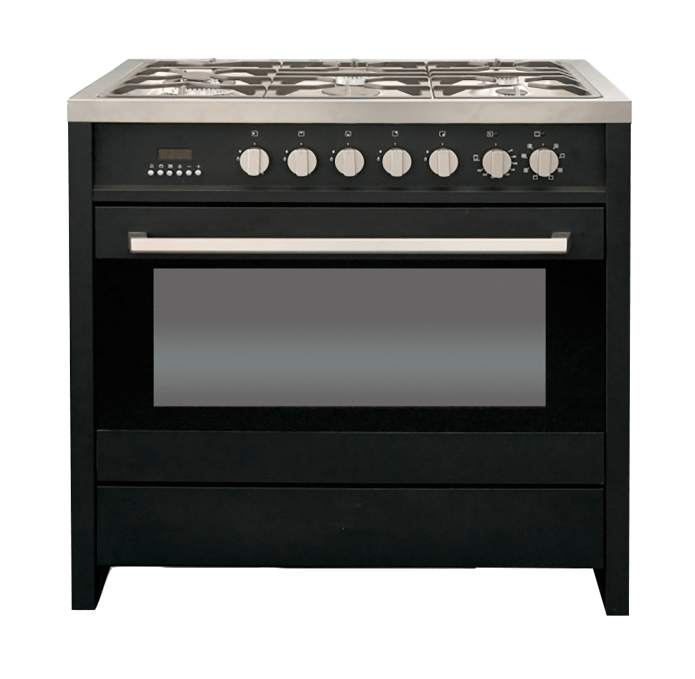KELVINATOR GAS ELECTRIC STOVE (BLACK) MODEL: KC9650BL