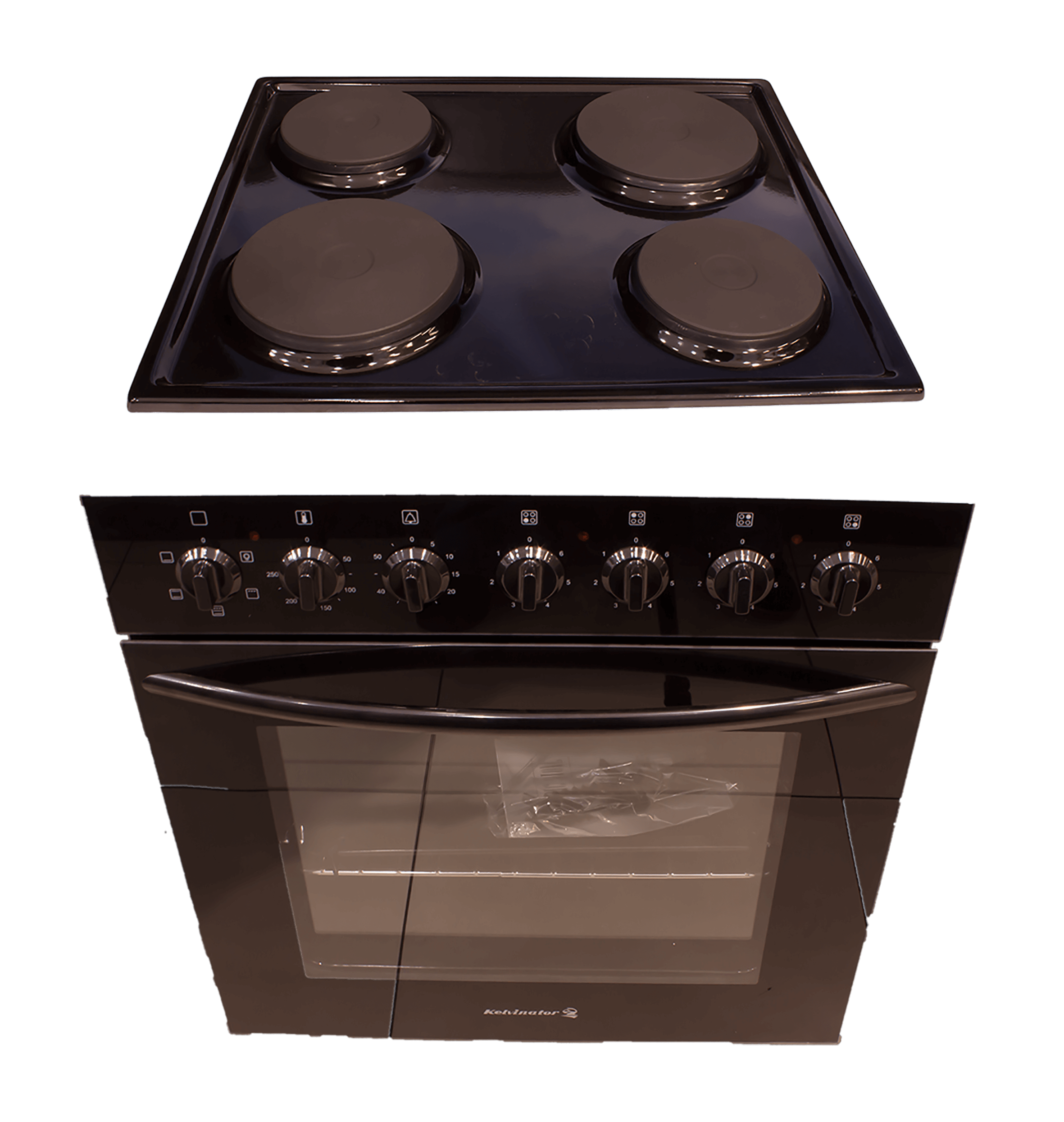 Kelvinator Built In Oven And Hob Set Black Model