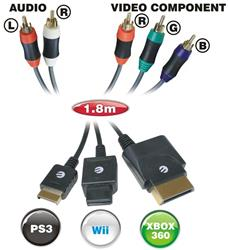 ELLIES COMPONENT MULTI TO 5RCA GAMING CABLE BPGM/5R
