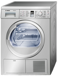 BOSCH <BR />CONDENSER TUMBLE DRYER (SILVER INOX) <BR /> MODEL: WTE8631XME