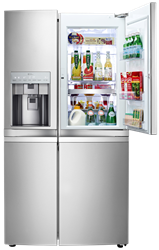 LG 5 DOOR SIDE BY SIDE FRIDGE GR-J257WSBN