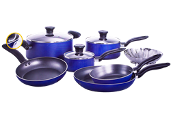 TEFAL 10 PIECE BLUE COOKWARE SET A820SA84