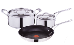 TEFAL 5 PIECE JAMIE OLIVER TRIPLY COOKWARE SET E464S514