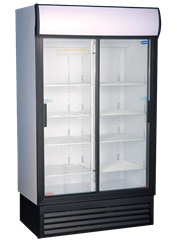 FRIDGESTAR 2 SLIDING DOOR DISPLAY FRIDGE ES1140