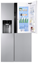 LG 3 DOOR SIDE BY SIDE FRIDGE WITH WATER DISPENSER GC-J237JSXV