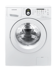 SAMSUNG FRONT LOADER WASHING MACHINE (WHITE) MODEL: WF1600W5W