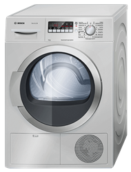 BOSCH <BR />CONDENSER TUMBLE DRYER (SILVER) <BR /> MODEL: WTB8620SZA