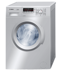BOSCH FRONT LOADER WASHING MACHINE (SILVER) <BR />MODEL: WAB2026SZA