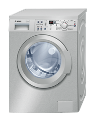 BOSCH FRONT LOADER WASHING MACHINE (SILVER) <BR />MODEL: WAQ2436SGB