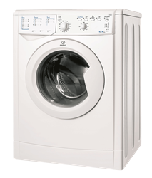 INDESIT FRONT <BR />LOADER WASHING MACHINE (WHITE) MODEL:  IWB6103