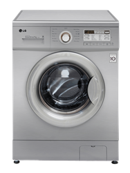 LG FRONT <BR />LOADER WASHING MACHINE (SILVER) <BR /> MODEL:  F10B8QDP5
