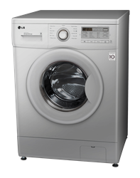 LG FRONT <BR />LOADER WASHING MACHINE (SILVER) <BR />MODEL:  F12B8TDP5