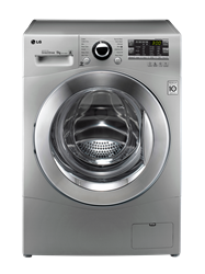 LG FRONT <BR />LOADER WASHING MACHINE (SILVER) <BR /> MODEL:  F14A8FD5