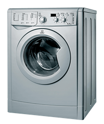 INDESIT FRONT <BR &#47:>LOADER WASHING MACHINE (SILVER) MODEL:  IWD71251S