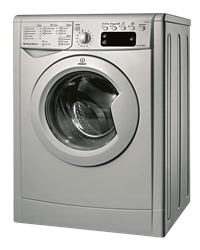 INDESIT FRONT <BR />LOADER WASHING MACHINE (SILVER) MODEL:  IWE81251S