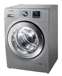 SAMSUNG FRONT <BR />LOADER WASHING MACHINE (SILVER) <BR />MODEL: WW80H5250ES