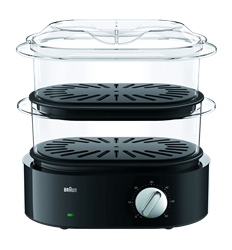 BRAUN FOOD STEAMER (BLACK) MODEL: FS5100BK