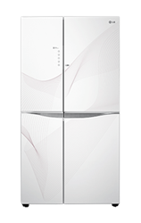 LG SIDE BY SIDE FRIDGE (WHITE) <BR /> MODEL: GC-M237JGQN-W