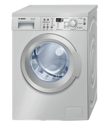 BOSCH FRONT <BR /> LOADER WASHING MACHINE (SILVER) <BR />MODEL: WAQ2436XZA