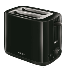 PHILIPS <BR /> TOASTER (BLACK) <BR />MODEL: HD2595/91