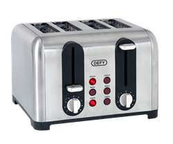 DEFY <BR /> TOASTER <BR />(STAINLESS STEEL) <BR />MODEL: TA4203S