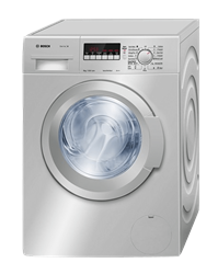 BOSCH FRONT <BR /> LOADER WASHING MACHINE (SILVER) <BR />MODEL: WAK2428SZA
