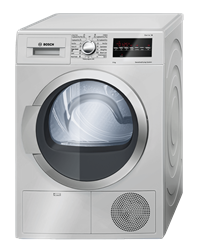 BOSCH CONDENSER TUMBLE DRYER (SILVER INOX) MODEL: WTG86400ZA
