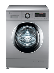 LG FRONT LOADER WASHING MACHINE (SILVER) MODEL: F1496ADP4