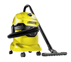 KARCHER  VACUUM <BR /> CLEANER (YELLOW) <BR />MODEL: WD4