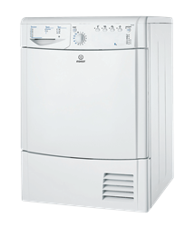 INDESIT <BR />CONDENSER TUMBLE DRYER (WHITE) <BR /> MODEL: IDCAG35