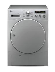 LG <BR />CONDENSER TUMBLE DRYER (SILVER) <BR /> MODEL: RC8043C1Z