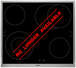 AEG CERAMIC HOB (BLACK) MODEL: HE604060XB