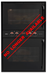 DEFY BUILT IN <BR /> DOUBLE OVEN (BLACK) <BR />MODEL: DBO435