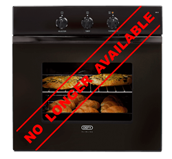 DEFY BUILT IN <BR /> OVEN (BLACK) <BR />MODEL: DBO450