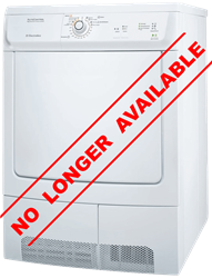 ELECTROLUX CONDENSER TUMBLE DRYER (WHITE) MODEL: EDC47130W
