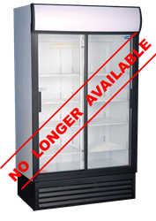 FRIDGESTAR 2 SLIDING DOOR DISPLAY FRIDGE GD1140