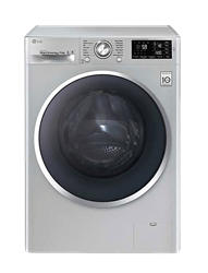 LG FRONT LOADER WASHING MACHINE (SILVER) MODEL: FH4U2TDHP5N