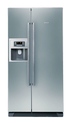 BOSCH <BR /> SIDE BY SIDE <BR />FRIDGE (INOX) <BR />MODEL: KAN58A75