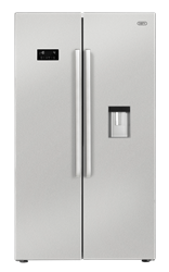 DEFY <BR /> SIDE BY SIDE <BR /> FRIDGE (S/STEEL) <BR />MODEL: DFF417