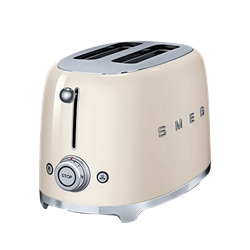 SMEG <BR /> TOASTER (CREAM) <BR />MODEL: TSF01CRSA