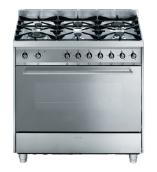 SMEG FULL GAS OVEN (S/STEEL)MODEL: C9GGSSA-1