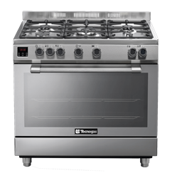 TECNOGAS FULL GAS STOVE (S/STEEL) MODEL: N2X96G5VC