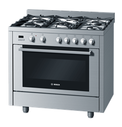 BOSCH <BR /> GAS ELECTRIC <BR /> STOVE (S/STEEL) <BR />MODEL: HSB738155Z