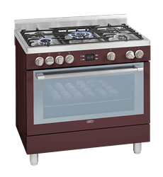 DEFY <BR /> GAS ELECTRIC <BR &#$7;> STOVE (RED) <BR />MODEL: DGS162R