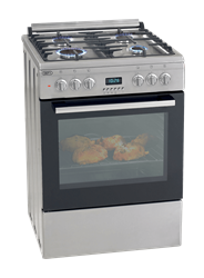 DEFY <BR /> GAS ELECTRIC <BR /> STOVE (S/STEEL) <BR /> MODEL: DGS160